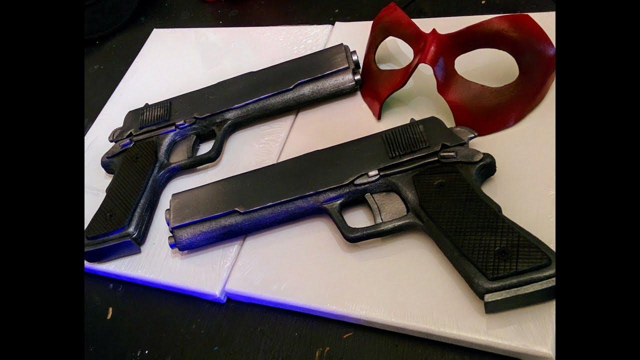 DIY foam prop pistols for my Red Hood cosplay