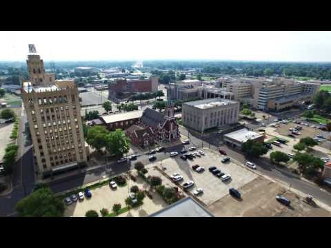 8.7.2016 - Early Morning Flight - Downtown Monroe / West Monroe, LA - DJI Phantom 3 Pro