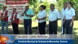 417 Salvador Calles Ramírez, inicia la construccion de comedor escolar en jardin de Honconcitos