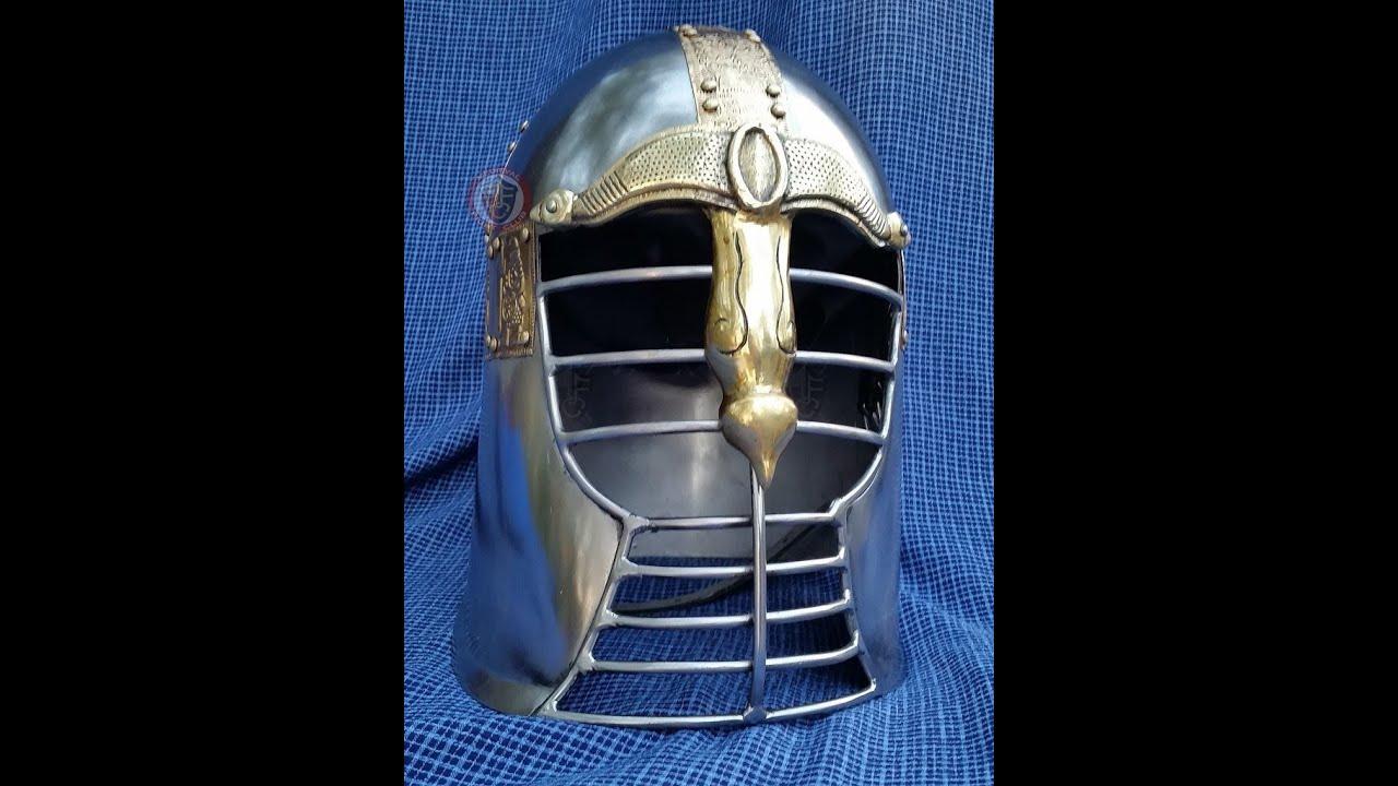 MFC Heavy Duty Anglo Saxon Helmet - YouTube