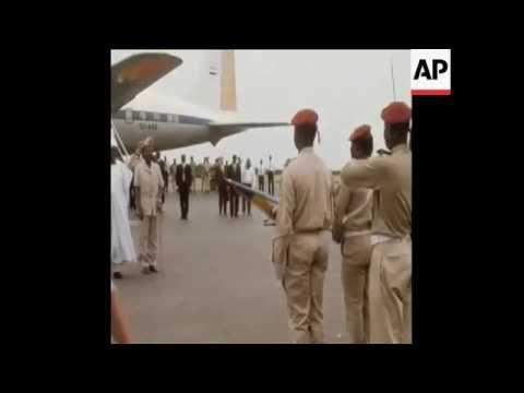 Niger Histoire : President Diori Hamani au Fort Lamy en 1971