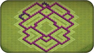 Clash of Clans - LAYOUT HÍBRIDO CV 7 2015 LAYOUT DEFESA / LAYOUT TROFÉU (SPEED BUID) TOWN HALL 7