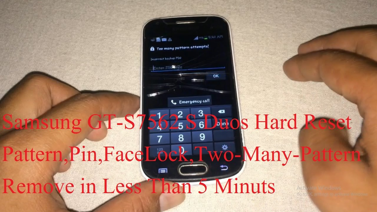 Samsung Galaxy S Duos GT S7562 Hard Reset Recovery Mode