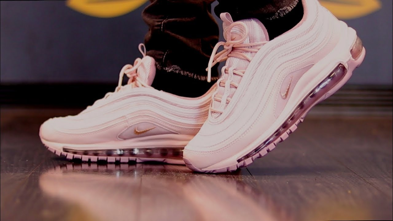 competitive price 9fc71 b52c8 AIR MAX 97 BARELY ROSE + ON FEET