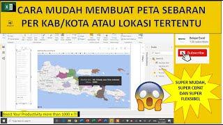 Cara Membuat Peta Sebaran di Excel Power BI Per Kabupaten Kota