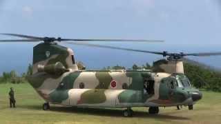 A140726 航空自衛隊串本分屯基地 CH-47 体験搭乗