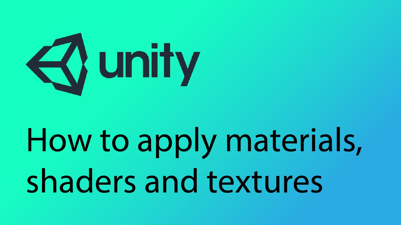Unity Tutorial 4 - How to apply materials, shaders and textures to objects  in Unity
