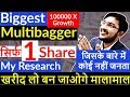 Biggest Multibagger Share in India | Best share to Buy 2019 in India | Only 1 Share to Earn Money