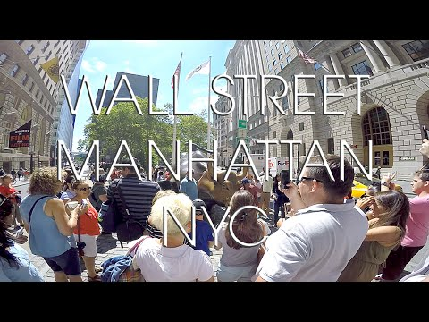 Wall Street Financial District New York City with a GoPro Hero 4 Silver