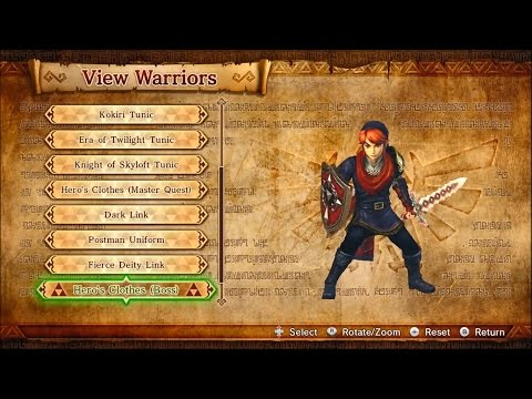 Download Youtube: Hyrule Warriors - Outfits & Weapons (Includes Legends characters) - Wii U