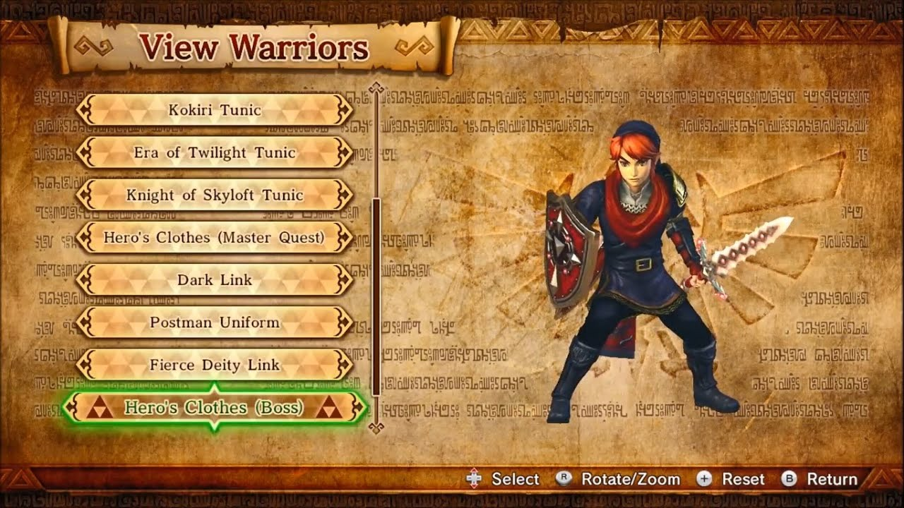 Hyrule Warriors Outfits Weapons Includes Legends Characters Wii U