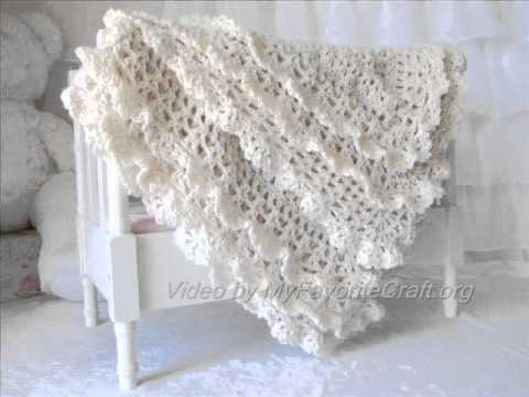 Victorian Crochet Baby Blanket Pattern Presentation YouTube Best Lacy Baby Blanket Crochet Pattern