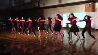 正則高等学校 ダンス部の演舞.