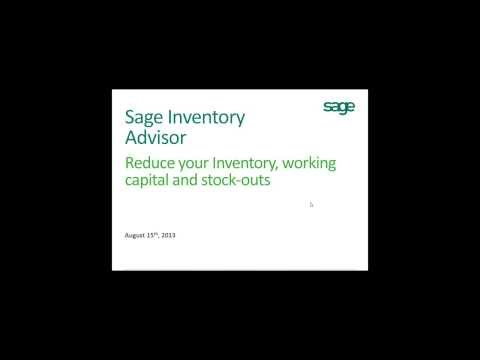 Learn how to reduce excess inventory, working capital and stock outs with Sage Inventory Advisor