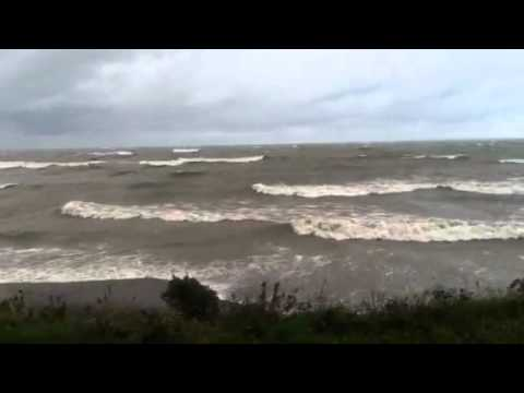 Wind at lake Erie