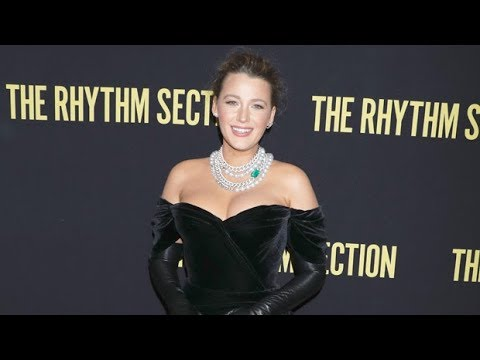blake-lively's-'the-rhythm-section'-press-tour-looks:-strapless-gown,-shorts-&-more-stunning-outfits