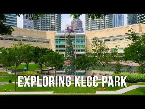 KLCC Park Walk & Eating Malaysian Food in Kuala Lumpur - Malaysia 2017