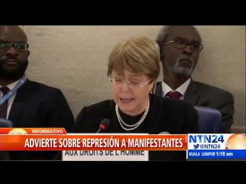 """Bachelet reconoce crisis """"devastadora"""" en Venezuela"""