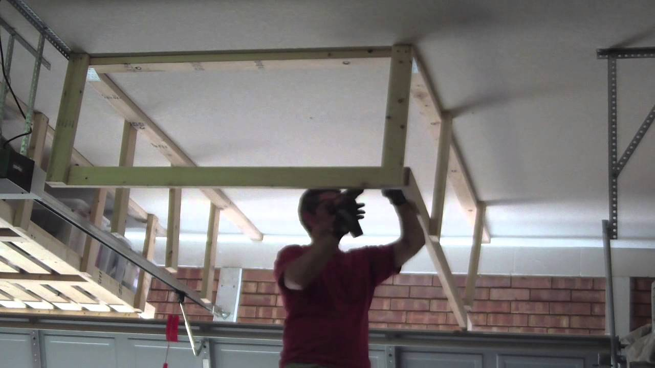 hang how organizer full ladder door image for to scrapwood above heavy ceiling in garage