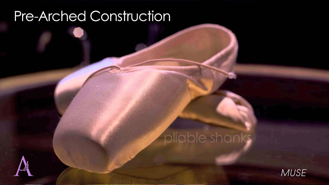 Russian Pointe Muse® Pointe Shoes - Spotlight Collection ...: http://www.youtube.com/watch?v=MGJ5oj-tQno