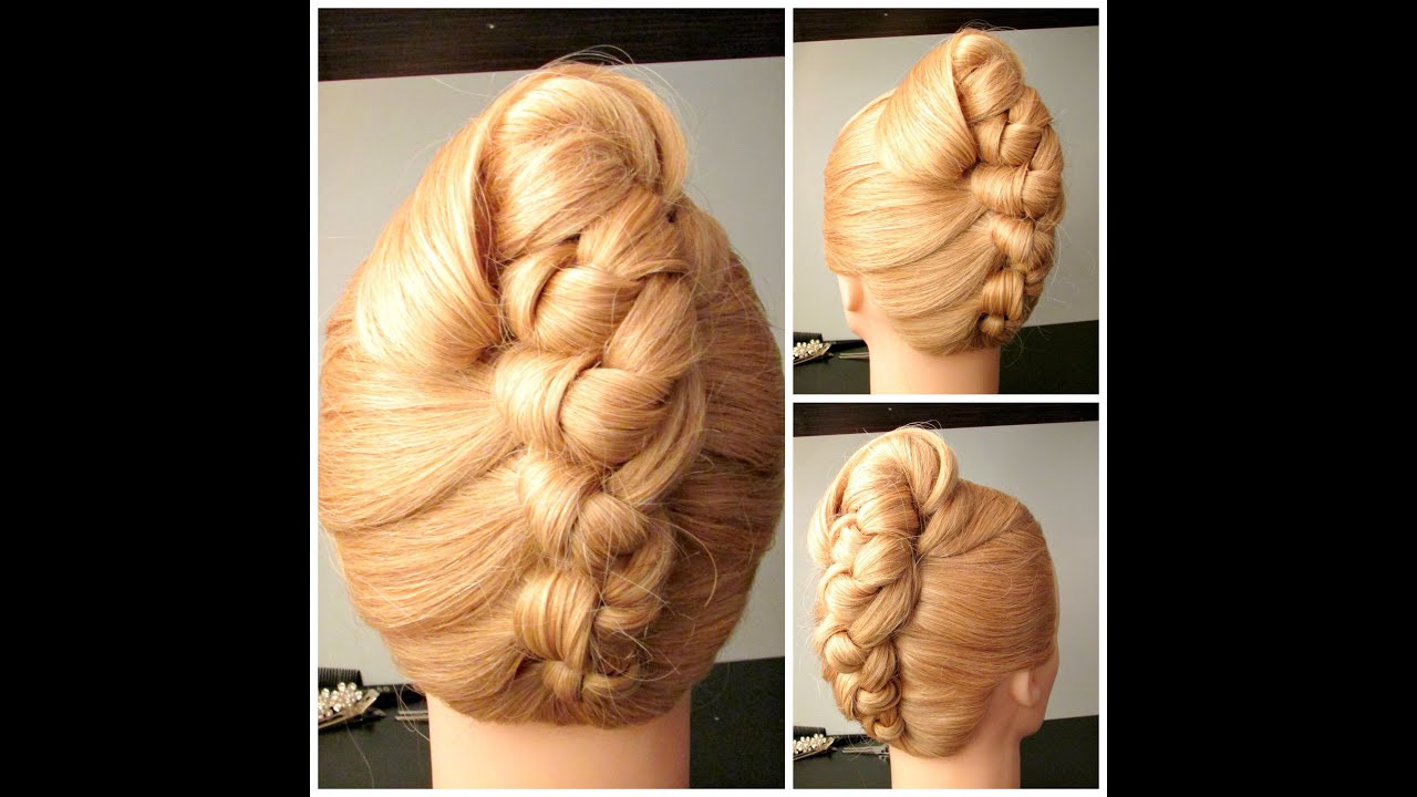 knot french roll , prom hairstyle, wedding hairstyle - youtube