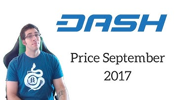 CryptoCurrency Price Prediction for September 2017 | Dash $500