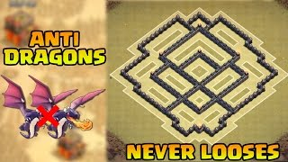 Clash of Clans UNDEFEATED Town Hall 7 TH7 FARMING Base ANTI DRAGON   CoC TH7 Defense W/ Air Sweeper