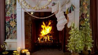 Yule Log Fireplace Video with Crackling Fire Sounds from Anthropologie