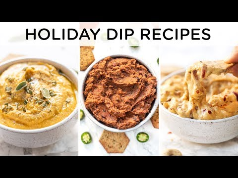 MUST-TRY HEALTHY HOLIDAY DIPS ‣‣ 3 easy vegan holiday recipes