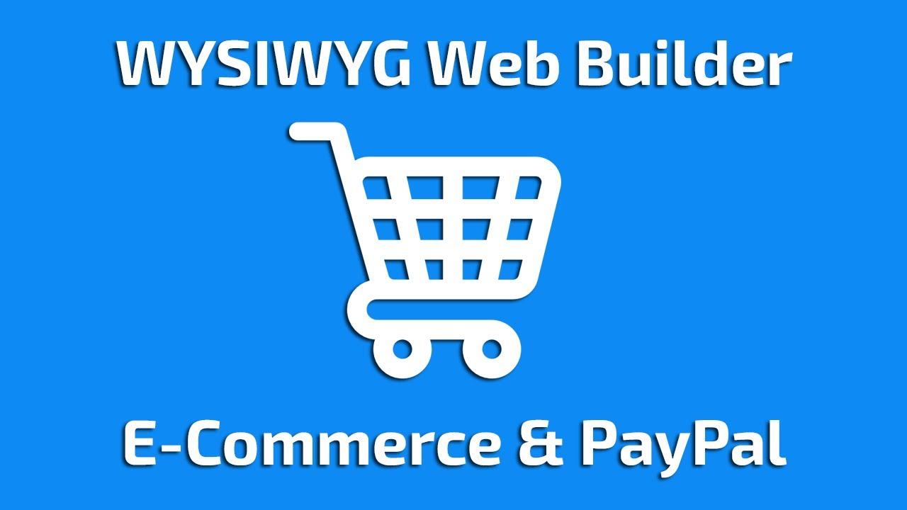 WYSIWYG Web Builder 12  E-Commerce & PayPal (spanish)