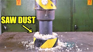 Can you Turn Sawdust back into Wood with Hydraulic Press?