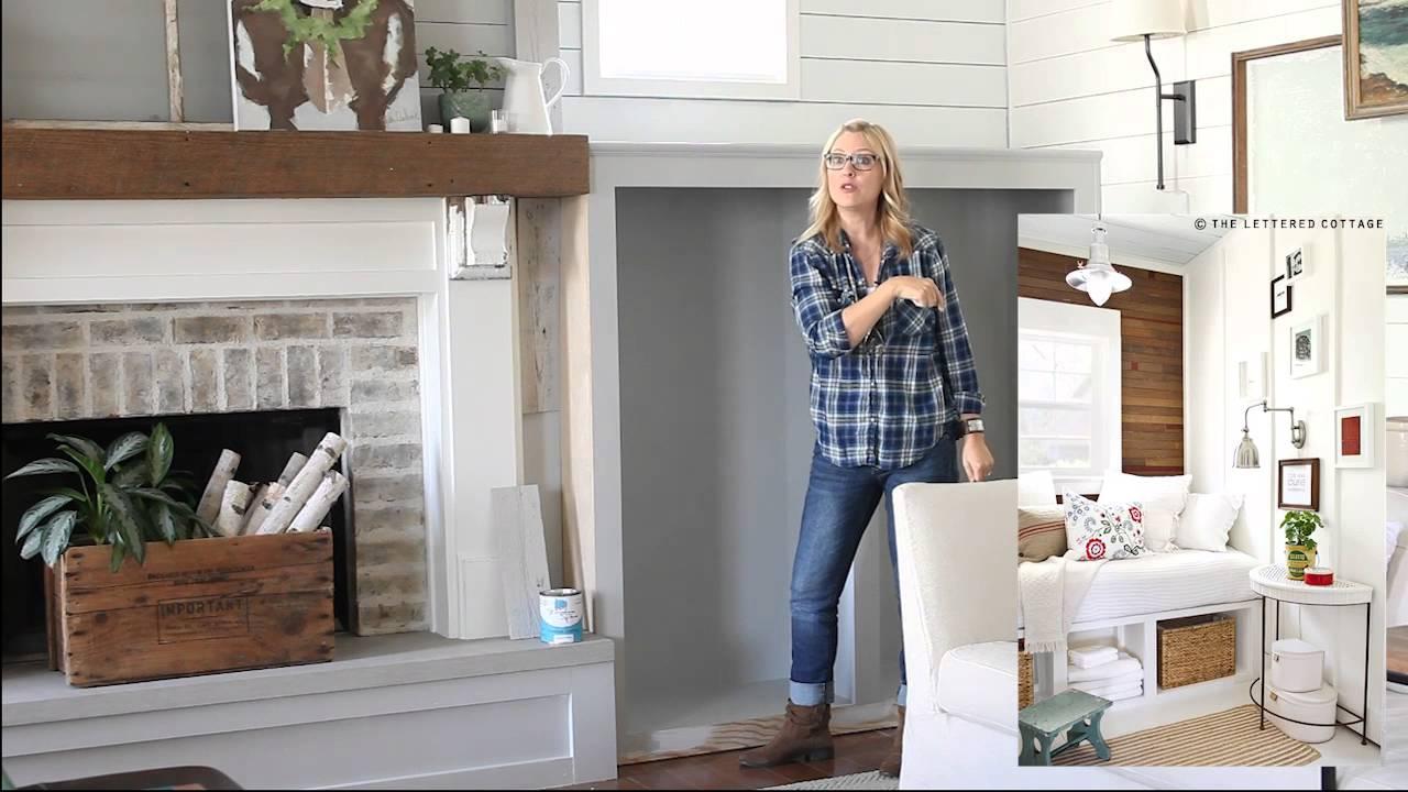 Farmhouse Fireplace Makeover Stikwood Youtube