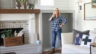 Farmhouse Fireplace Makeover - Stikwood