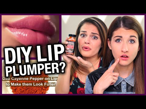 DIY Lip Plumper w/ Cayenne Pepper? - Makeup Mythbusters w/ Maybaby & Carrie Rad
