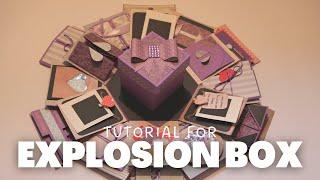 EXPLOSION BOX FOR BOYFRIEND| VALENTINE'S DAY IDEAS | SCRAPBOOK IDEAS