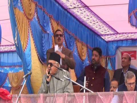 Kya POK Tumare Baap Ka Hai: Full speech of Dr. Farooq Abdullah at ITI Kishtwar on 24-11-2016