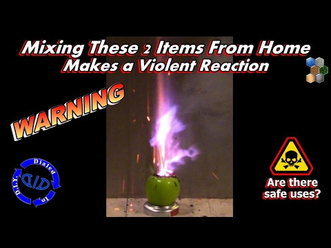 Dangerous Reaction Mixing Household Products - Chemical Reaction Warning
