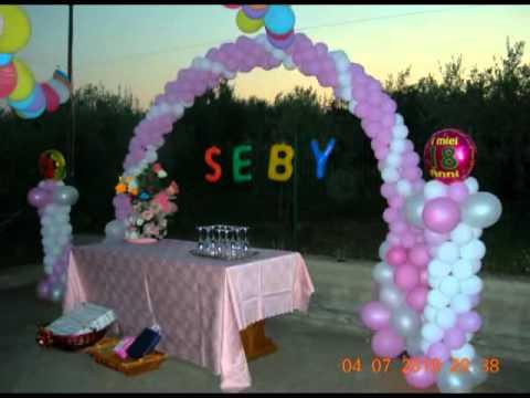 Compleanno 18esimo con addobbi e fuochi con 18 youtube - Addobbi tavoli per 18 anni ...