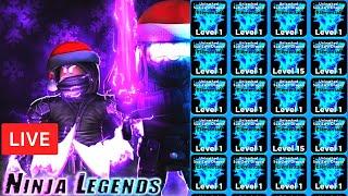 🎅🎁 CHRISTMAS UPDATE  | Ninja Legends ELEMENTAL GIVEAWAYS ROBLOX LIVE STREAM   (24Dec2019)