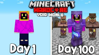 I Survived 100 Days Of Hardcore Minecraft, In a Void World.