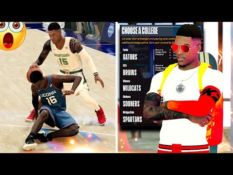NBA 2K22 MyCareer Ep2 - FIRST Ankle Breaker, College Decision, & FIRST Game w/RANDOMS?