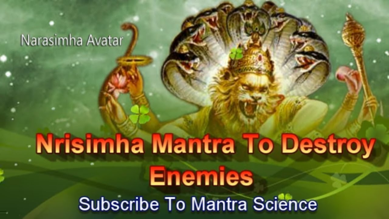 Extremely Powerful Sri Narasimha Mantra To Destroy Enemies Youtube