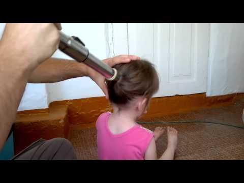 Как с помощью пылесоса быстро сделать хвост дочке!