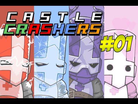 Castle Crashers #01 - ARRASANDO NA IDADE MÉDIA ft. GuilhermeOss e Pudell