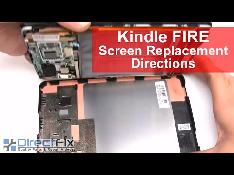 Amazon Kindle Fire Screen Replacement Directions