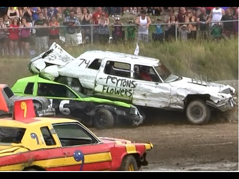 2014 Gander Demolition Derby Big Car Heat Youtube