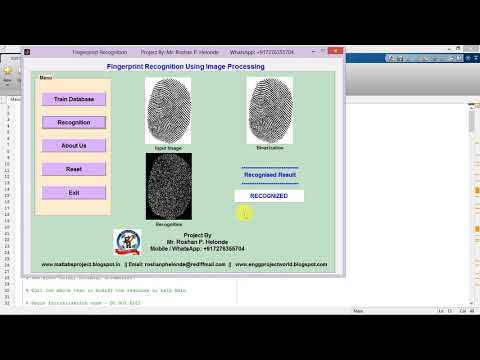 Fingerprint Recognition using Image Processing full Matlab