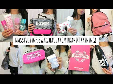 PINK Campus Rep Swag Haul! (Brand Training 2016)