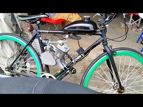 จักรยานวินเทจติดเครื่อง / จักรยาน ติดน้ำมัน ปั่นได้ บิดได้ ลิตรเดียว วิ่งได้หลายวัน ตลาดปัฐวิกรณ์