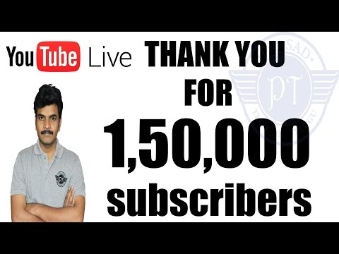 Live Thank You For 150k Subscribers